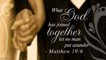 Matthew 19 6